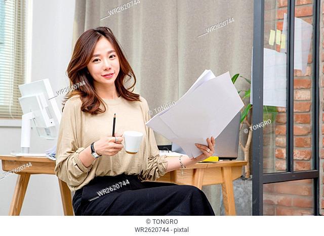 Lifestyle of female interior designer
