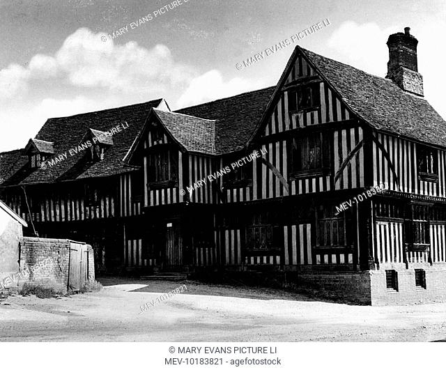 The Guildhall, Lavenham, Suffolk, England. It was originally a hall of Cloth Guilds, for which the town was noted in the 15th century as a centre for the cloth...