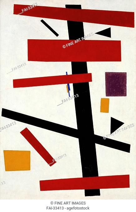 Supremus No. 50 by Malevich, Kasimir Severinovich (1878-1935)/Oil on canvas/Suprematism/1915/Russia/Stedelijk Museum, Amsterdam/Abstract Art/Painting/Supremus...