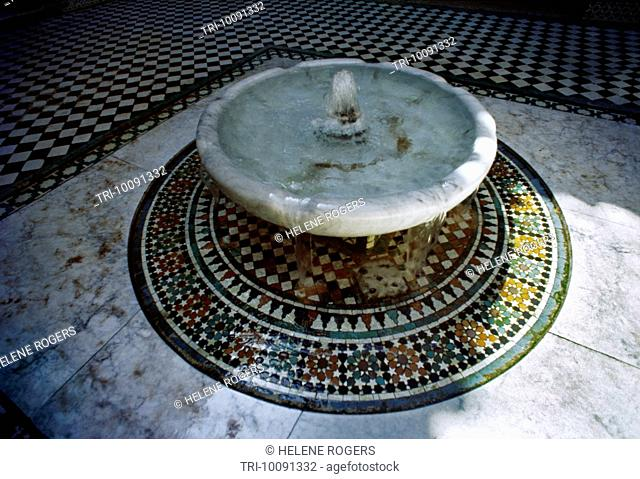 Fes Morocco Kairaouine Mosque Fountain