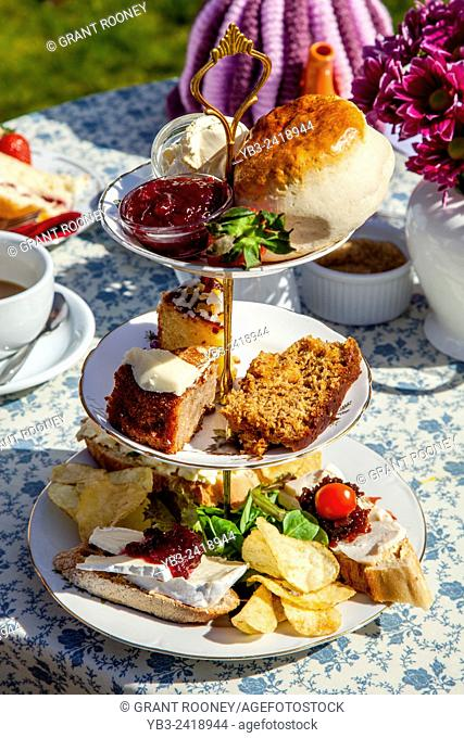 A Traditional Afternoon Tea, Glynde, Sussex, UK