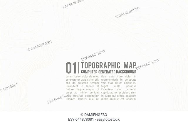 Topographic map background with space for copy . Line topography map contour background , geographic grid abstract vector illustration