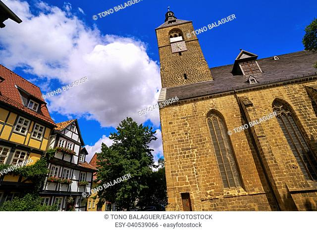 Quedlinburg city chuch in Harz of Germany