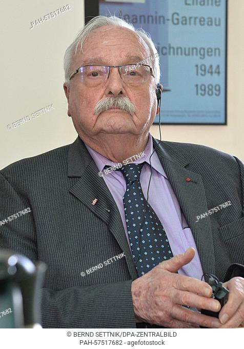 Chairman of the International Sachsenhausen Committee, Roger Bordage, pictured during the presidium meeting in Oranienburg, 16 April 2015