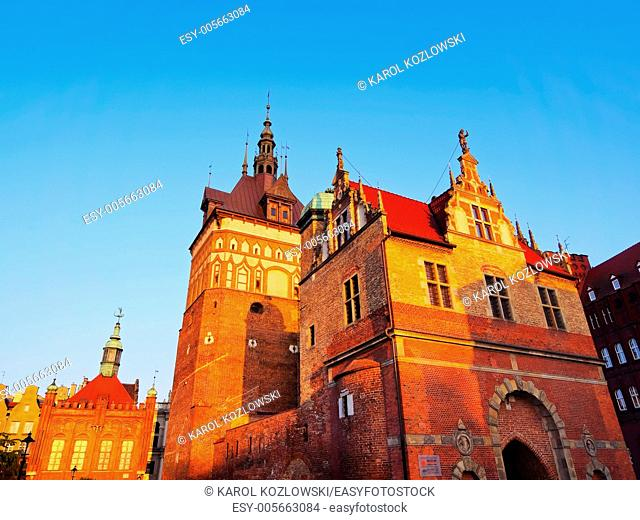 Torture House and Prison Tower, Amber Museum on the old town of Gdansk, Poland