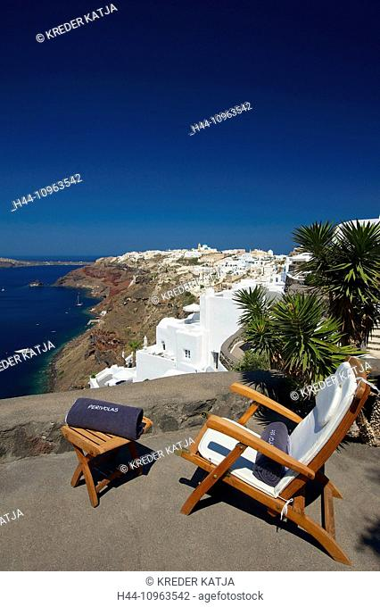 Greece, Europe, Cyclades, island, isle, islands, Greek, outside, Mediterranean Sea, day, nobody, Santorin, Santorini, Oia, Perivolas, Perivolas hotel