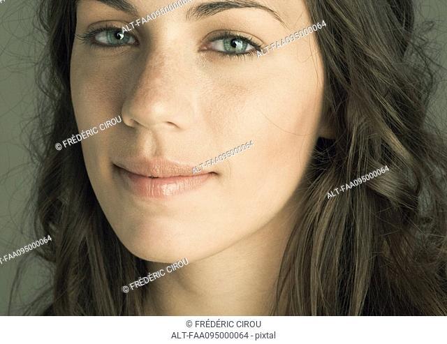 Young woman's face, portrait