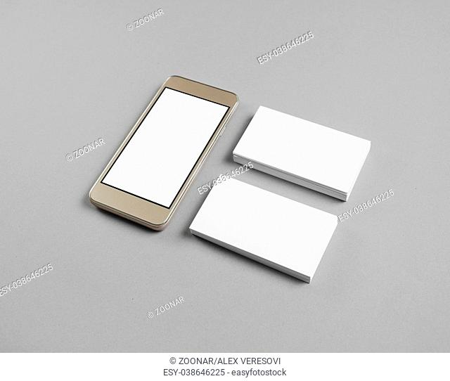 Smartphone, business cards