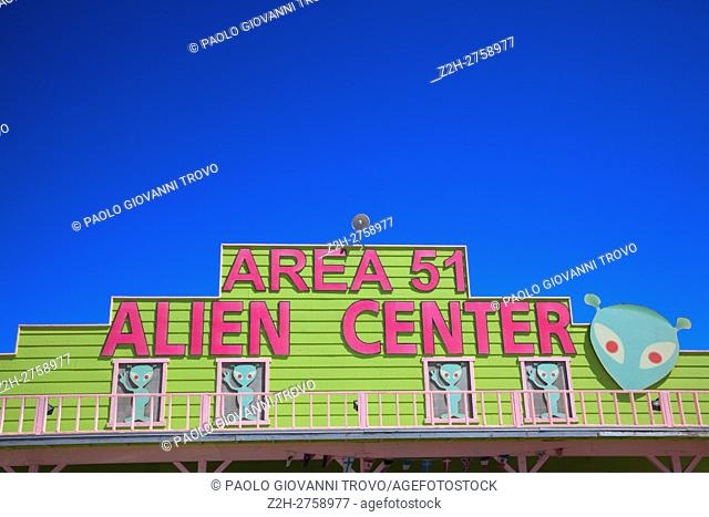 Amargosa Valley, Nevada - The Area 51 Alien Center at a gas station in the Nevada desert