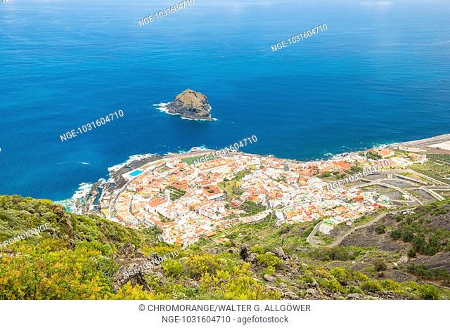 Panorama auf Garachico, Teneriffa, Kanarische Inseln, Spanien, Europa