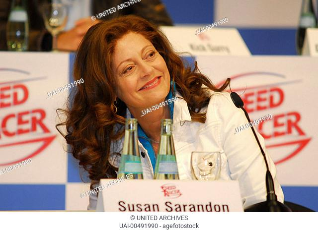 SPEED RACER / SUSAN SARANDON, Speed Racer, Press Conference in Berlin (31 may 2007) Regie: Andy Wachowski, Larry Wachowski / SPEED RACER USA 2008