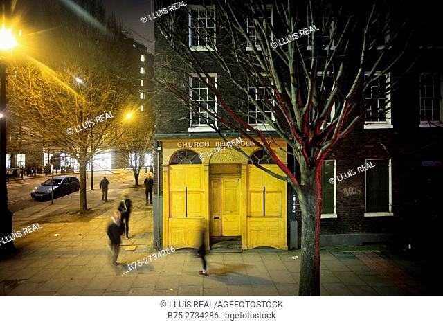 Street scene, Whitechapel Bell Foundry, Whitechapel, Tower Hamlets, London, England