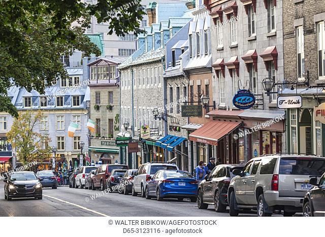 Canada, Quebec, Quebec City, Cote de la Fabrique, street