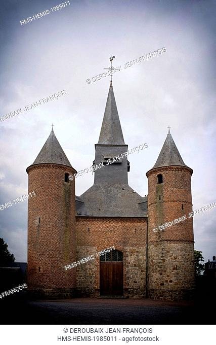 France, Aisne, Ohis, fortified church