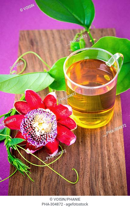 Herbal tea of passiflora