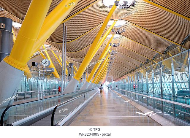 Adolfo Suarez Madrid T4 airport terminal; Madrid; Spain