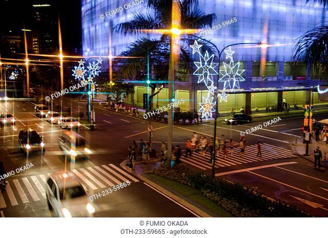 Shopping mall illuminations at Makati, Philippines
