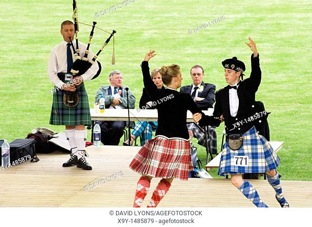 Highland dancing contest at the annual Cowal Highland Gathering at Dunoon, west of Glasgow  Largest Highland Games in Scotland