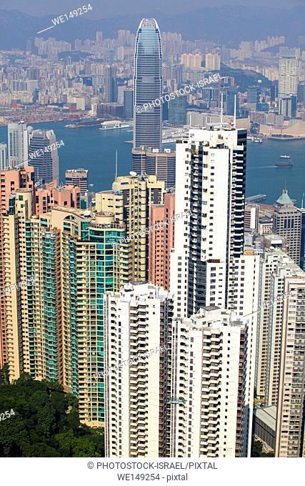 Asia, Southeast, People's Republic of China, Hong Kong. Dense High-rise buildings