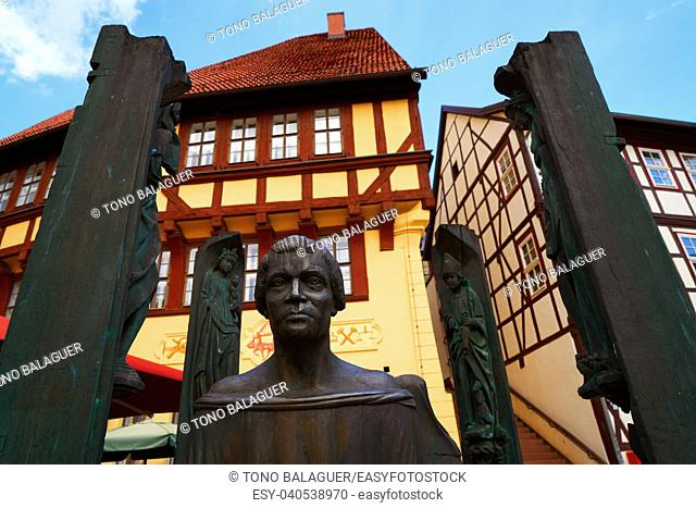 Stolberg statue of Thoman muntzer Denkmal in Harz Germany