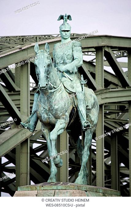 Germany, Cologne, Emperor Wilhelm statue
