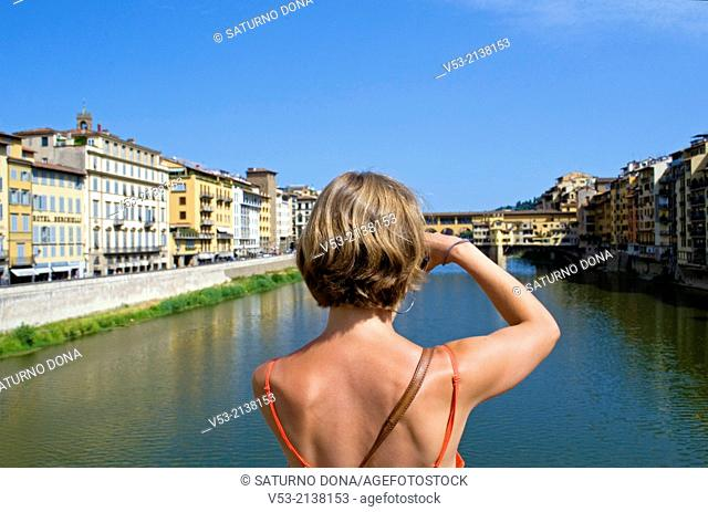 Tourist photographing Florence, Italy