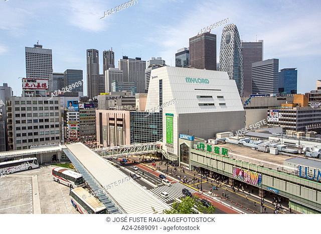 Japan, Tokyo City, Shinjuku District, Shinjuku Station South entrance, New Shinjuku Bus Station