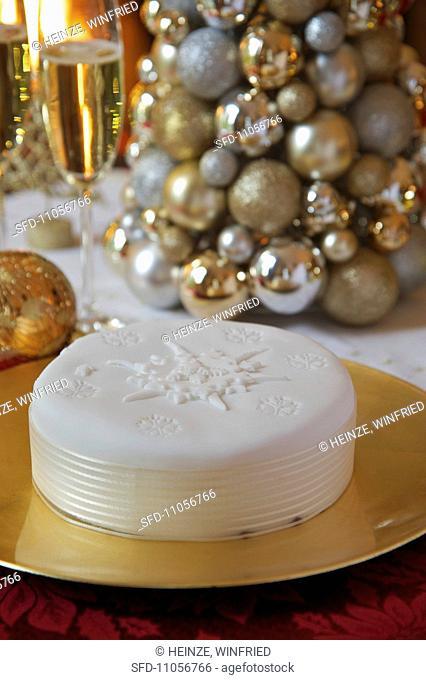 Festive cream cake