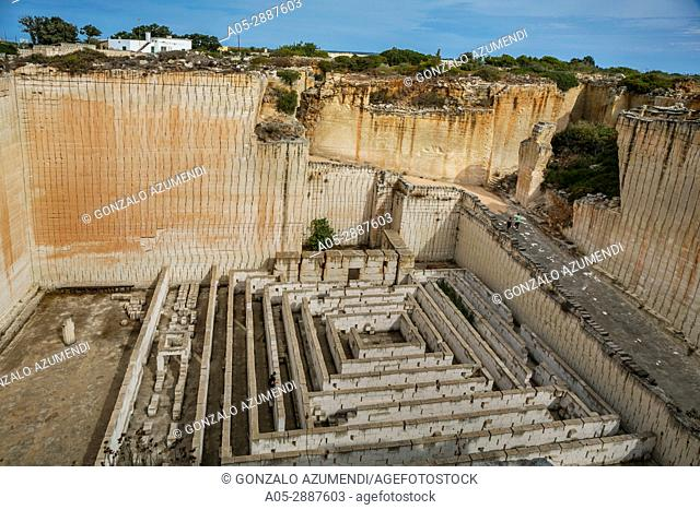 s'Hostal stone Quarries. Ciutadella de Menorca Municipality. Minorca Island. Balearic Islands. Spain