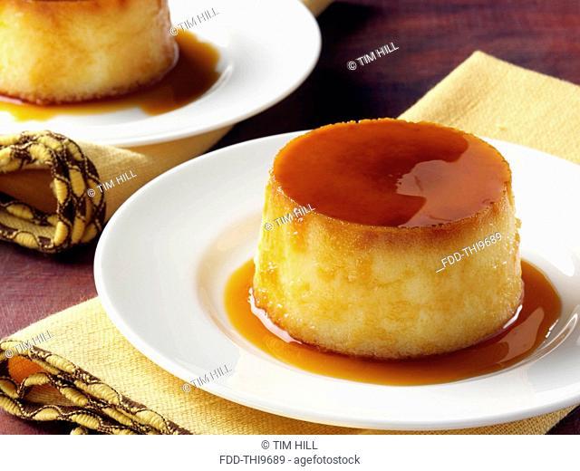 Cuban coconut flan dessert