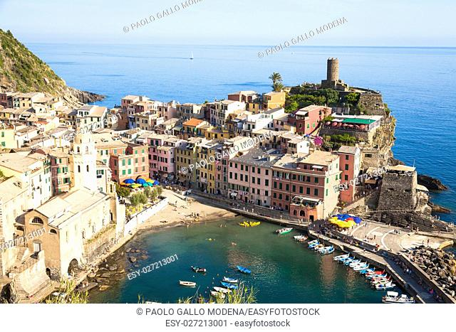 One of the most beautiful panorama in Cinque Terre, Italy