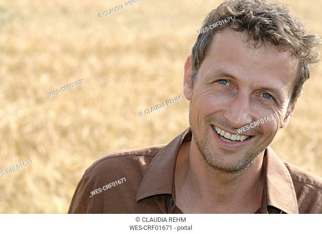 Germany, Bavaria, Man standing on field