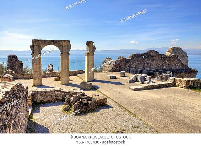 Grottoes of Catullus, Roman villa, Sirmione, Lombardy, Italy