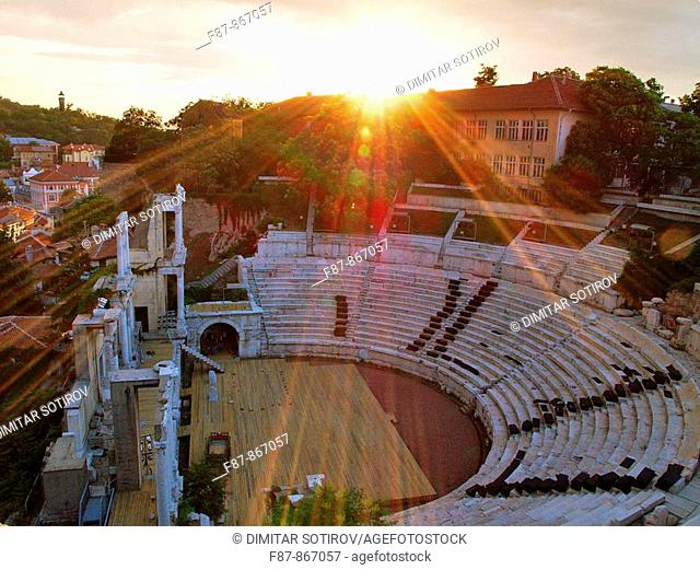 Roman Amphitheatre, Plovdiv, Bulgaria, Europe