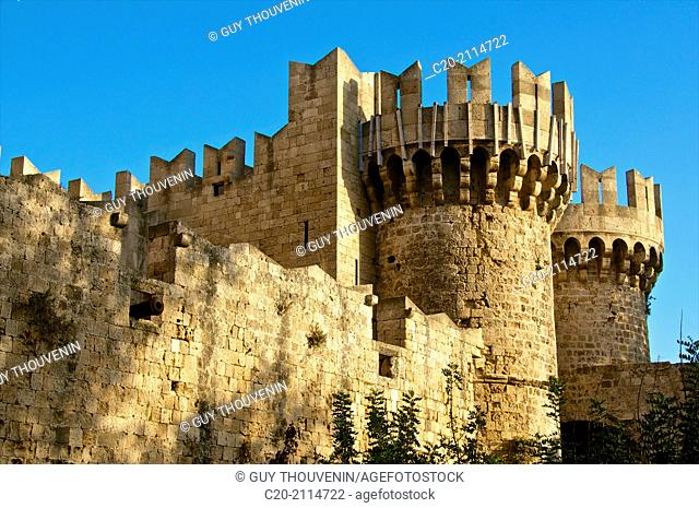 Towers, Palace of the Grand Master, Rhodes, Rhodes island, Greece