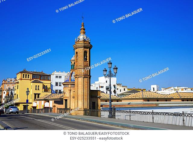 Puente Isabel II bridge Capilla del Carmen in Triana Seville of Andalusia Spain