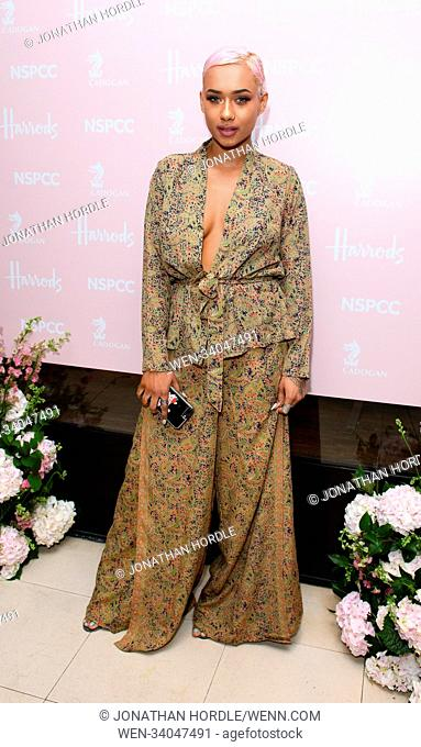 fashion retold pop up store in aid of the Nspcc Featuring: Jade Laurice Where: London, United Kingdom When: 12 Apr 2018 Credit: Jonathan Hordle/WENN