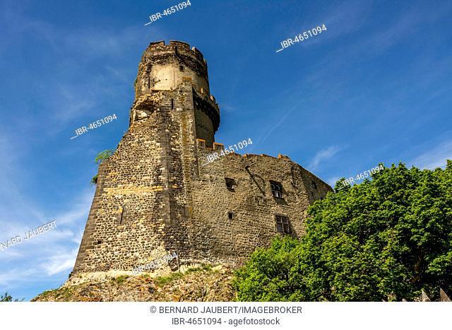 Medieval Castle of Tournoel, Volvic, Puy de Dome department, Auvergne, France