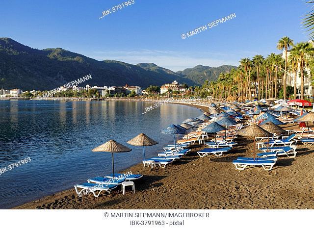 Beach of Icmeler near Marmaris, Mugla Province, Aegean, Turkey