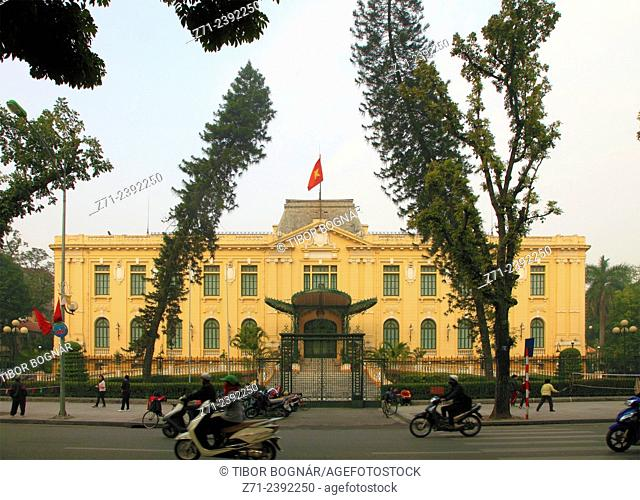 Vietnam, Hanoi, French Quarter, french colonial architecture,