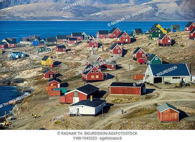 Village of Ittoqqortoormiit, Scoresbysund, Sermersooq Municipality, Greenland
