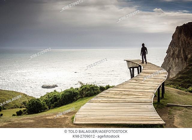 Muelle de las ánimas, Pirulil, costa occidental de la Isla Grande de Chiloé ,provincia de Chiloé ,región de Los Lagos,Patagonia, República de Chile
