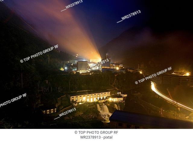 Night scene Foot Ping Hydropower Station Tianquan County Ya