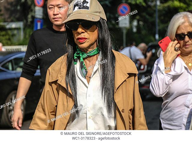 MILAN, Italy- September 19 2018: Women on the street during the Milan Fashion Week