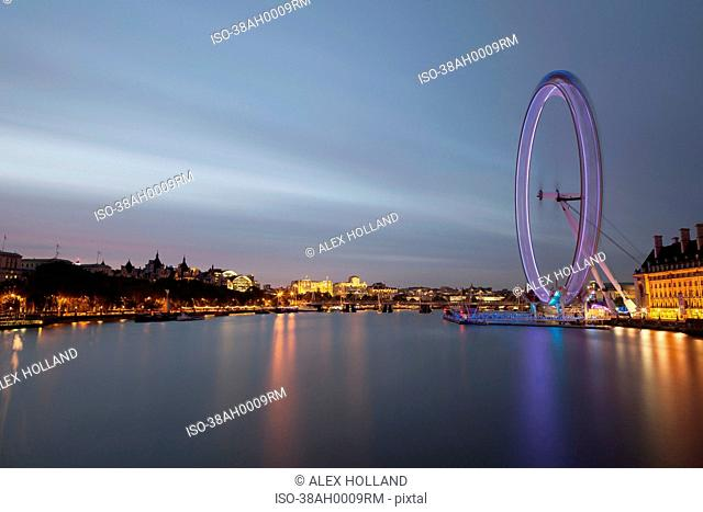 Time lapse view of London Eye