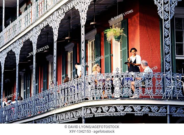 New Orleans  The Royal Cafe restaurant in the French Quarter Vieux Carre on corner of Royal and Peter streets Louisiana USA