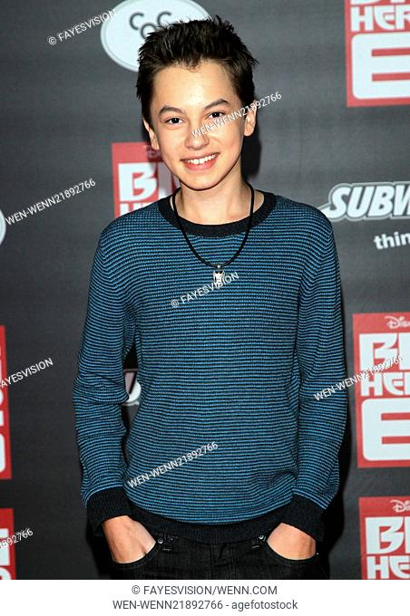 """Premiere Of Disney's """"""""Big Hero 6"""""""" Featuring: Hayden Byerly Where: Hollywood, California, United States When: 05 Nov 2014 Credit: FayesVision/WENN"""
