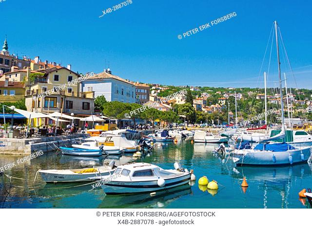 Volosko lucica, marina, Volosko, a district of Opatija, Kvarner Bay, Croatia