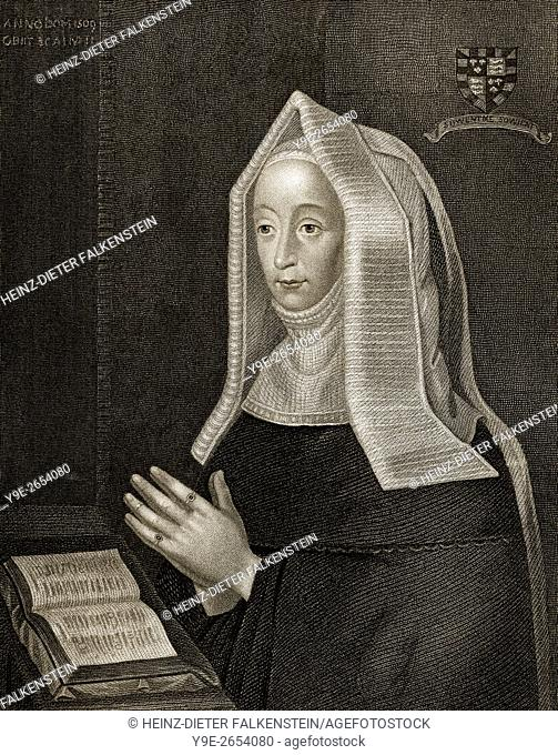 Margaret Beaufort, Countess of Richmond and Derby, 1443-1509, the mother of King Henry VII