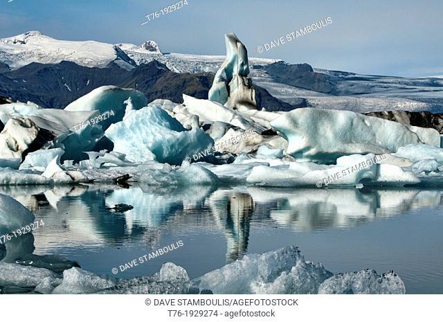 The iceberg lagoon at Jokulsarlon in Vatnajokull National Park, Iceland